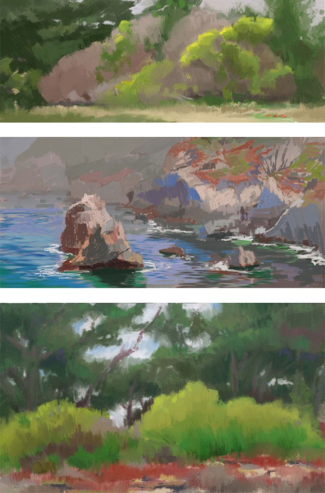 summer arts plein air sketches_gkaida