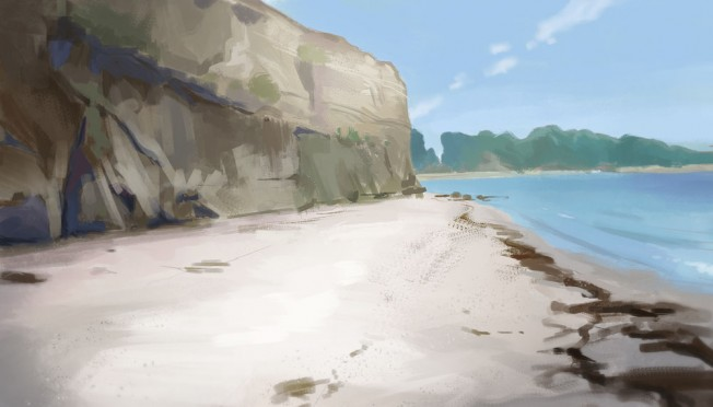 cliffs and shore_gkaida